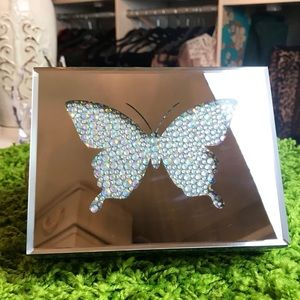 🦋 Butterfly Mirrored Hinged Lid Jewelry Box 🦋